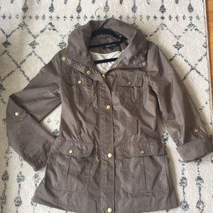 Ellen Tracy Rain Coat w/Hideaway Hood